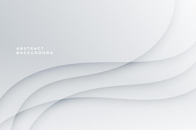 Abstrato branco com design de linhas de onda