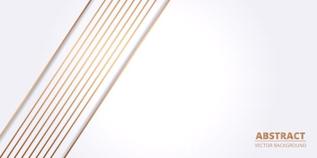 Abstrato branco com linha de luz laranja no espaço em branco.