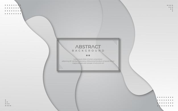Abstrato branco e cinza ondulado em estilo de jornal