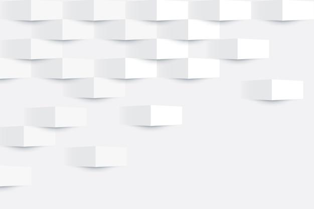 Abstrato branco em estilo de papel 3d