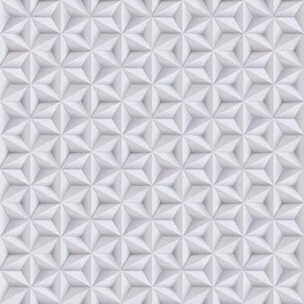 Abstrato branco, fundo cinza, padrão sem emenda de papel com estrelas, textura geométrica.
