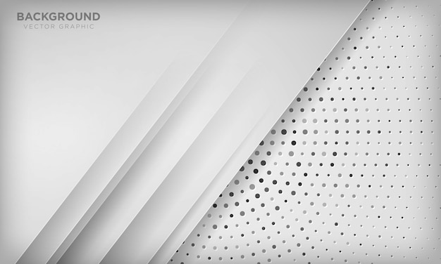 Abstrato branco moderno com camada de sobreposição na textura de meio-tom do círculo.
