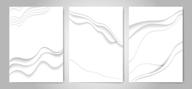 Abstrato branco papel cortado fundo