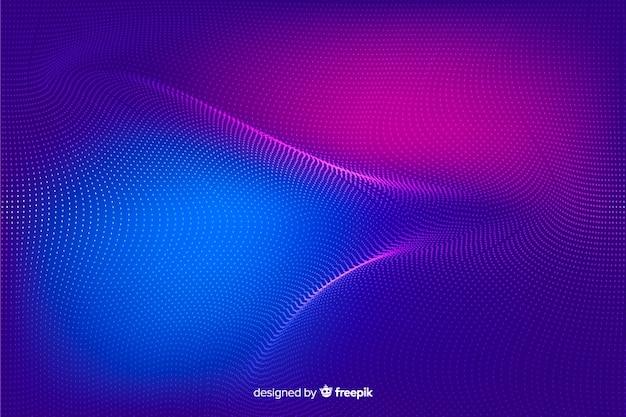 Abstrato brilhante partículas formas de fundo