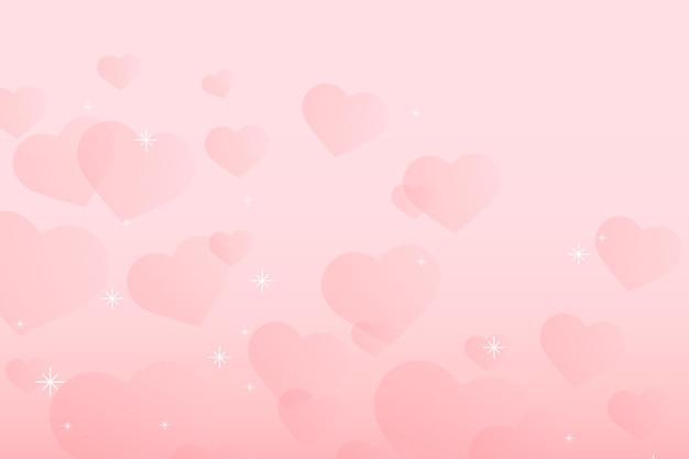 Abstrato cintilante coração padrão vector fundo rosa