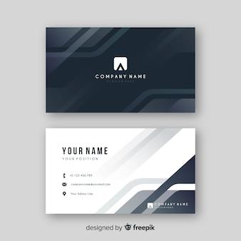 Abstrato cinza cartão de visita com logotipo