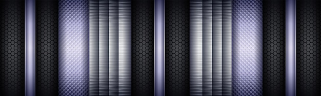 Abstrato cinza escuro de tecnologia futurista