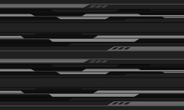Abstrato cinza preto cibernético desenho geométrico moderno futurista tecnologia base