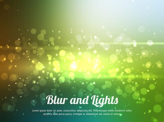 Abstrato colorido bokeh de fundo. fundo festivo com luzes desfocados. fundo mágico com bokeh colorido.