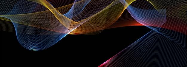 Abstrato colorido brilhante negócios onda banner fundo