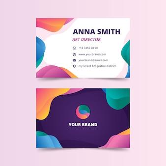 Abstrato colorido cartão de visita para diretor de arte