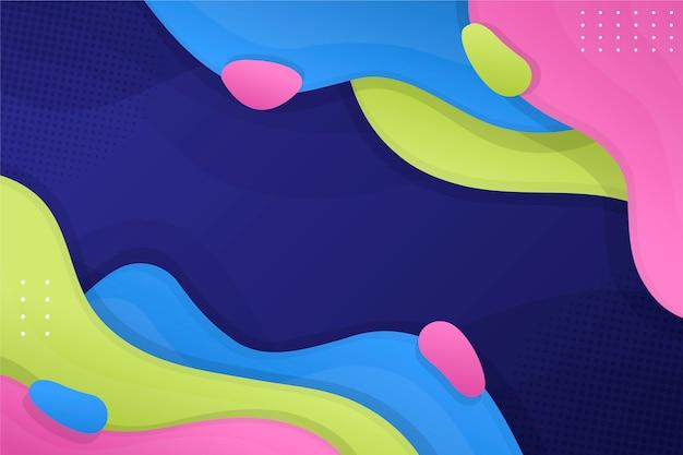 Abstrato colorido com camadas