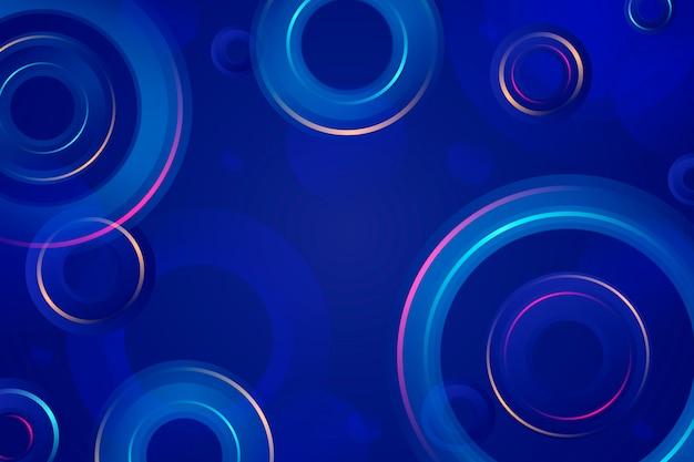 Abstrato colorido com círculos e anéis