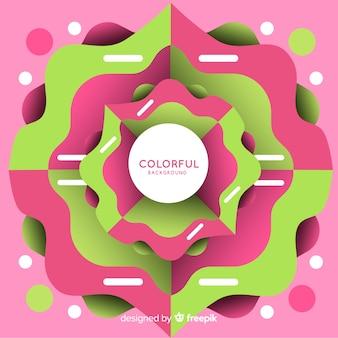 Abstrato colorido com design plano