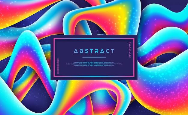 Abstrato colorido com estilo 3d e cor gradiente.