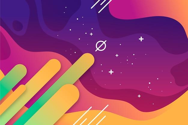 Abstrato colorido com estrelas