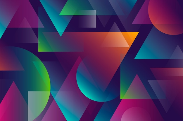 Abstrato colorido com formas geométricas
