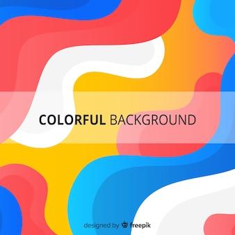 Abstrato colorido com formas onduladas