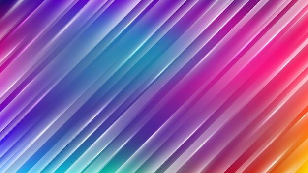Abstrato colorido com linhas brilhantes de luz.