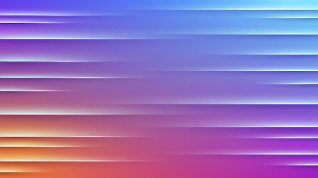 Abstrato colorido com linhas retas luz roxas.