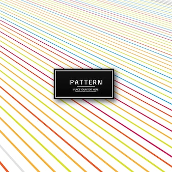 Abstrato colorido criativo linhas padrão ilustração em vetor