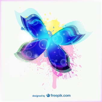 Abstrato colorido da borboleta