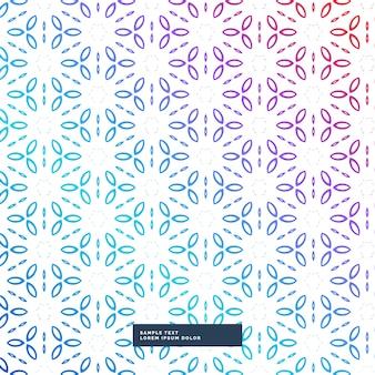 Abstrato colorido do fundo da flor padrão geométrico