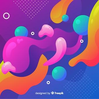 Abstrato colorido fluxo formas design de plano de fundo