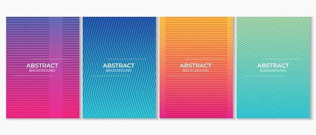Abstrato colorido gradiente linha minimalista fundo
