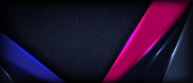 Abstrato colorido onda banner fundo com camadas de sobreposição