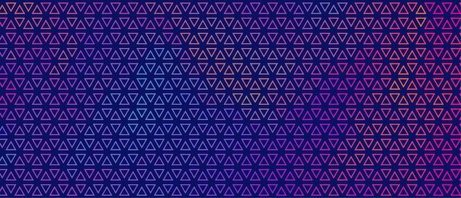 Abstrato colorido pequeno triângulo padrão banner design