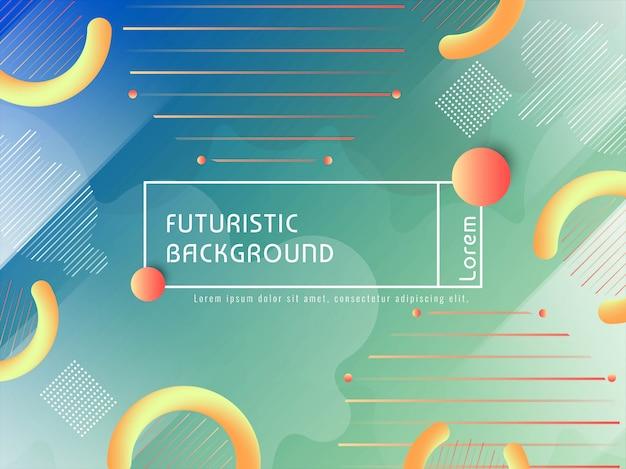 Abstrato colorido techno futurista