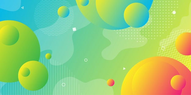 Abstrato colorido usando geometria mínima