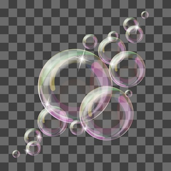 Abstrato com bolhas transparentes.