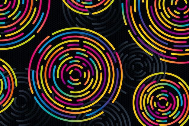 Abstrato com círculos coloridos