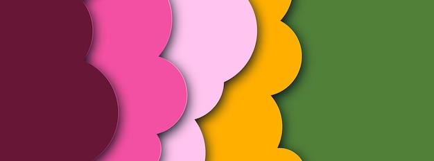 Abstrato com design de banner de formas de corte de papel. ilustração vetorial.