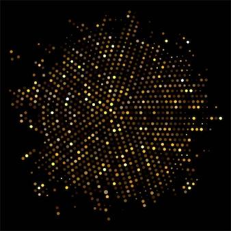 Abstrato com design de brilhos dourados
