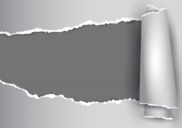 Abstrato com design de papel rasgado