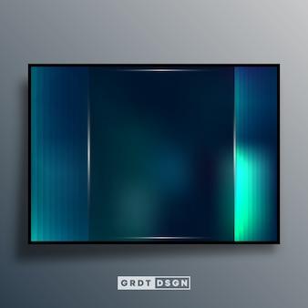 Abstrato com efeito gradiente verde