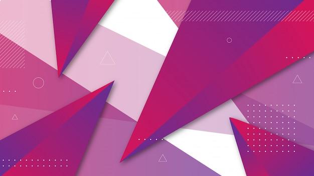 Abstrato com elementos do triângulo sombreado.
