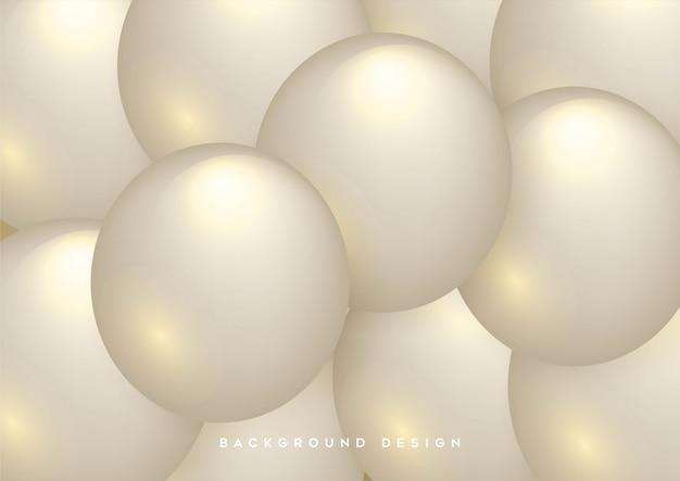 Abstrato com esferas 3d dinâmicas