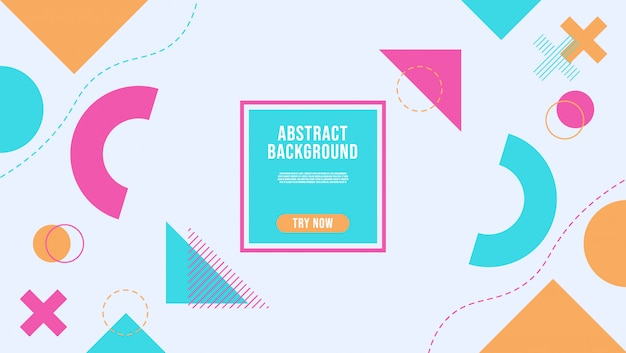 Abstrato com estilo geométrico