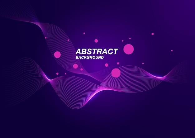 Abstrato com estilo minimalista de onda roxa.