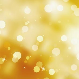 Abstrato com estrelas de luzes desfocadas bokeh.