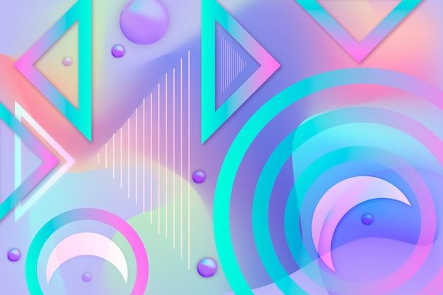 Abstrato com formas coloridas
