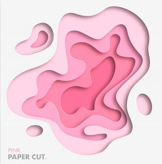 Abstrato com formas de corte de papel. cor-de-rosa tendência