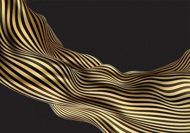 Abstrato com formas dinâmicas