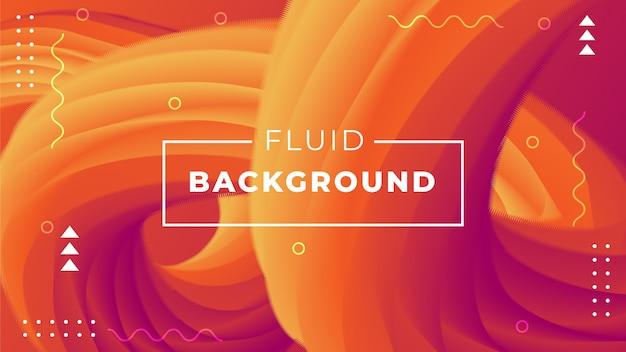 Abstrato com formas fluidas 3d