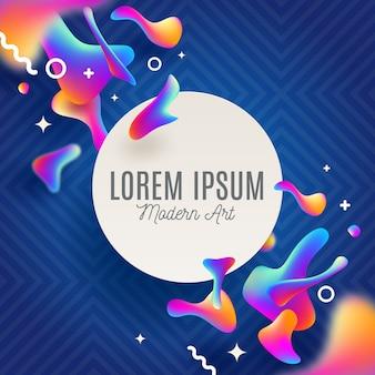 Abstrato com formas fluidas multicoloridas e banner para texto. para capas, cartão de felicitações, pôster ou folhetos.