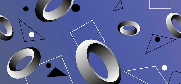 Abstrato com formas geométricas.